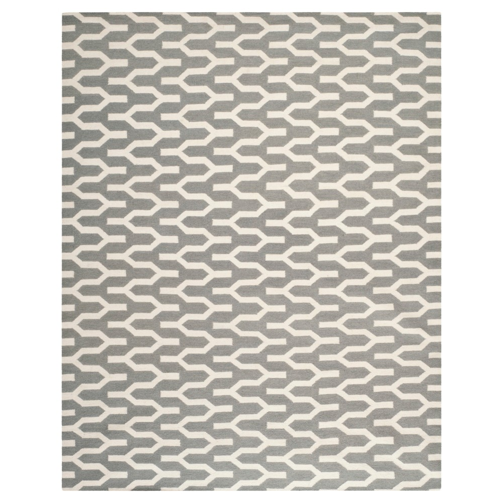 Delphine Dhurry Rug - Silver/Ivory - (8'x10') - Safavieh