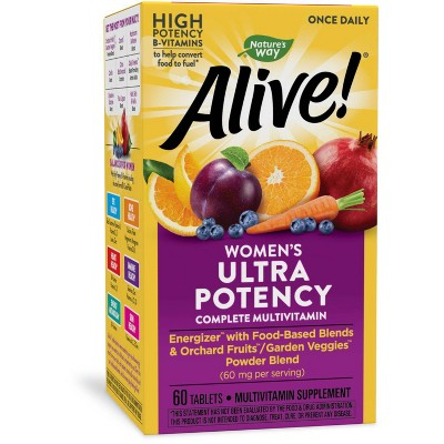 Nature's Way Alive! Womens Ultra Potency Multivitamin Tablets - 60ct