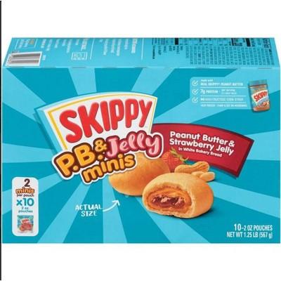 Skippy P.B. & Jelly Frozen Peanut Butter and Strawberry Jelly Minis - 20oz/10pk