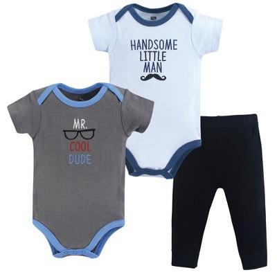Hudson Baby Infant Boy Cotton Bodysuit and Pant Set, Mr Cool Dude