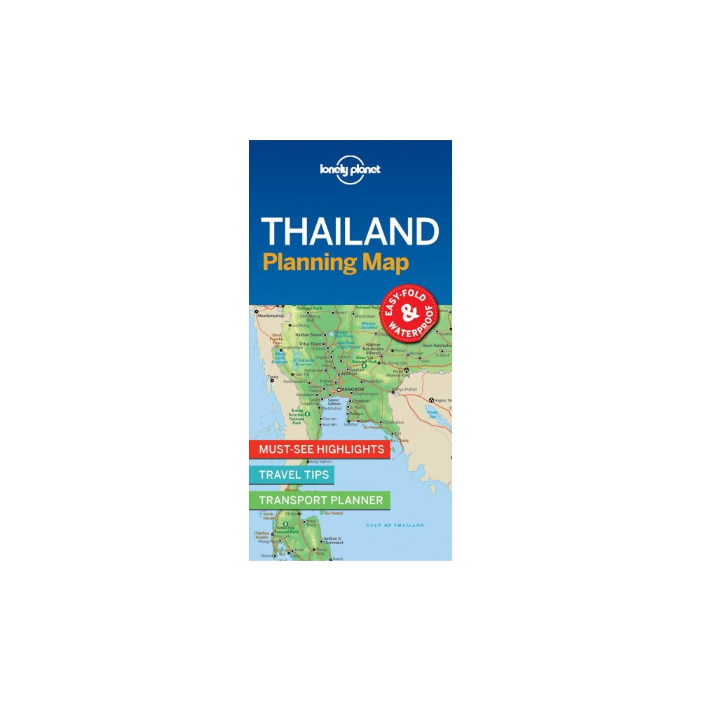 Lonely Planet Thailand Planning Map - Map (Lonely Planet Planning Maps) (Paperback)
