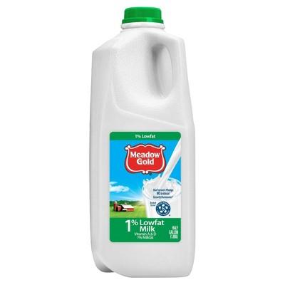 Meadow Gold 1% Milk - 0.5gal