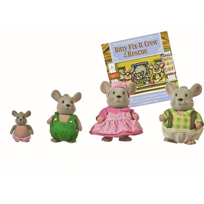 Li'l Woodzeez Miniature Animal Figurine Set - Handydandy Mouse Family