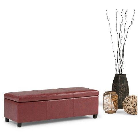 Surprising Avalon Large Rectangular Storage Ottoman Bench Target Lamtechconsult Wood Chair Design Ideas Lamtechconsultcom