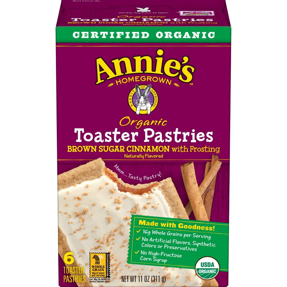 Annie's Homegrown Organic Brown Sugar Cinnamon Toaster Pastries - 6ct/11oz