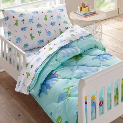 4pc Toddler Dinosaur Land Microfiber Bed in a Bag - WildKin