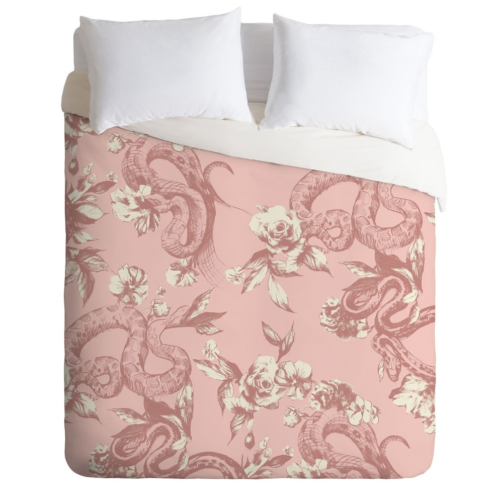 Twin/Twin XL Pattern State Floral Duvet Set Pink - Deny Designs Top