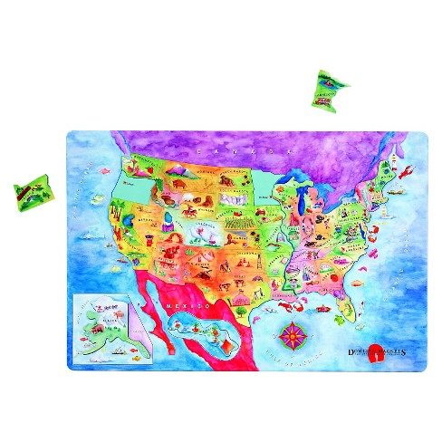 Dowling Magnets Magnetic USA Map Puzzle : Target