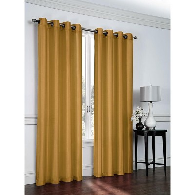 GoodGram 2 Pack: Victoria Classics Faux Silk 84 in. L Grommet Curtains