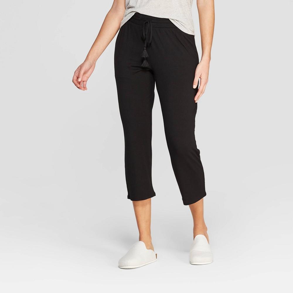 Women's Beautifully Soft Crop Pajama Pants - Stars Above Black M