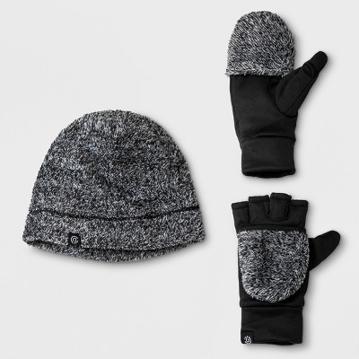 8fc464299e4 Girls  Printed Beanie and Gloves Set - C9 Champion® Black Gray