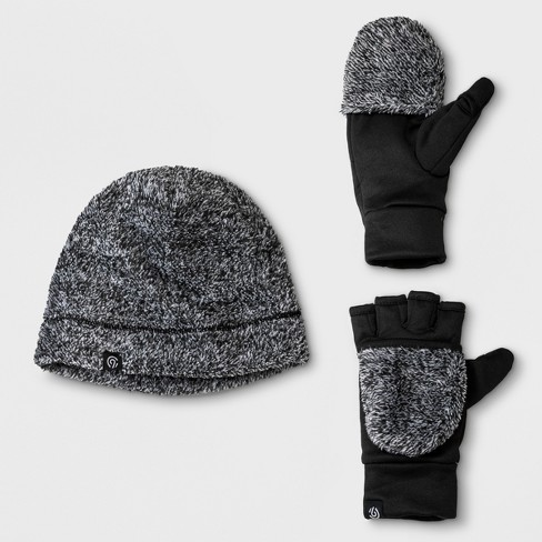 Girls  Printed Beanie And Gloves Set - C9 Champion® Black Gray   Target 780f26dd647