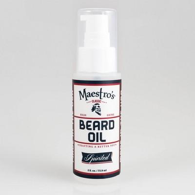 Maestro's Spirited Blend Classic Dry Beard Oil - 2 fl oz