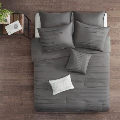 8pc King Jaine Comforter Set Gray