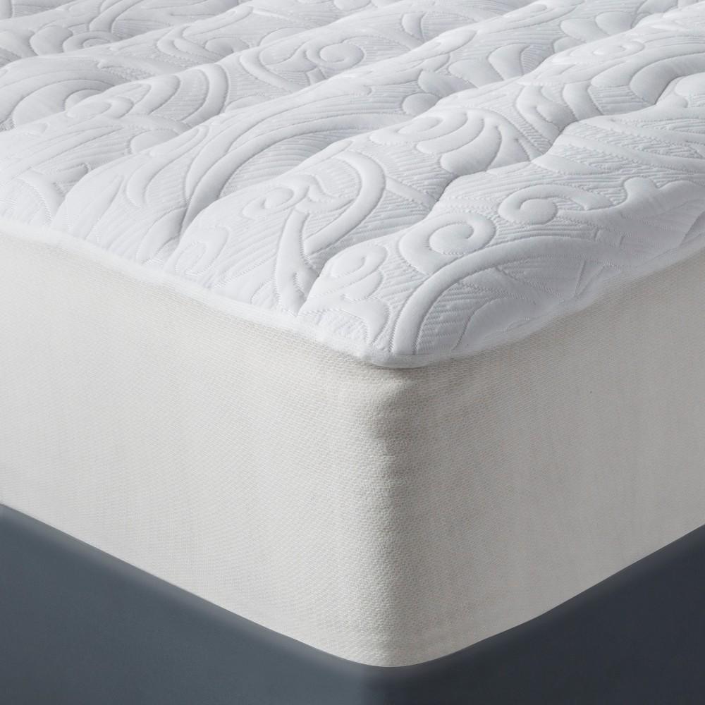 Luxury Plush Mattress Pad (Full) White - Fieldcrest