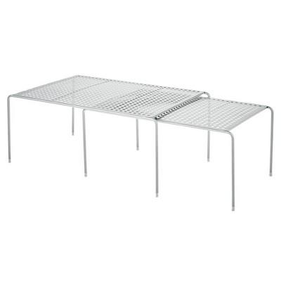 mDesign Metal Expandable Closet Organizer Storage Shelf