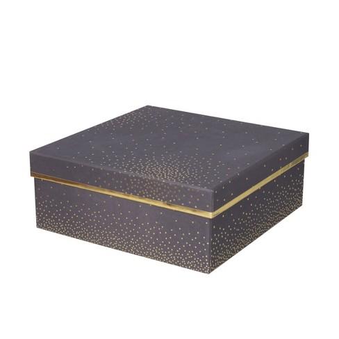 Square Foil Dotted Box Black - Spritz™ - image 1 of 1