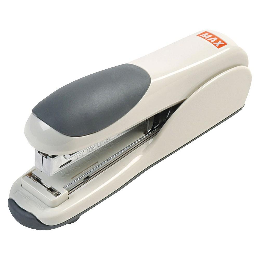 Max Flat-Clinch Standard Stapler, 30-Sheet Capacity- Gray