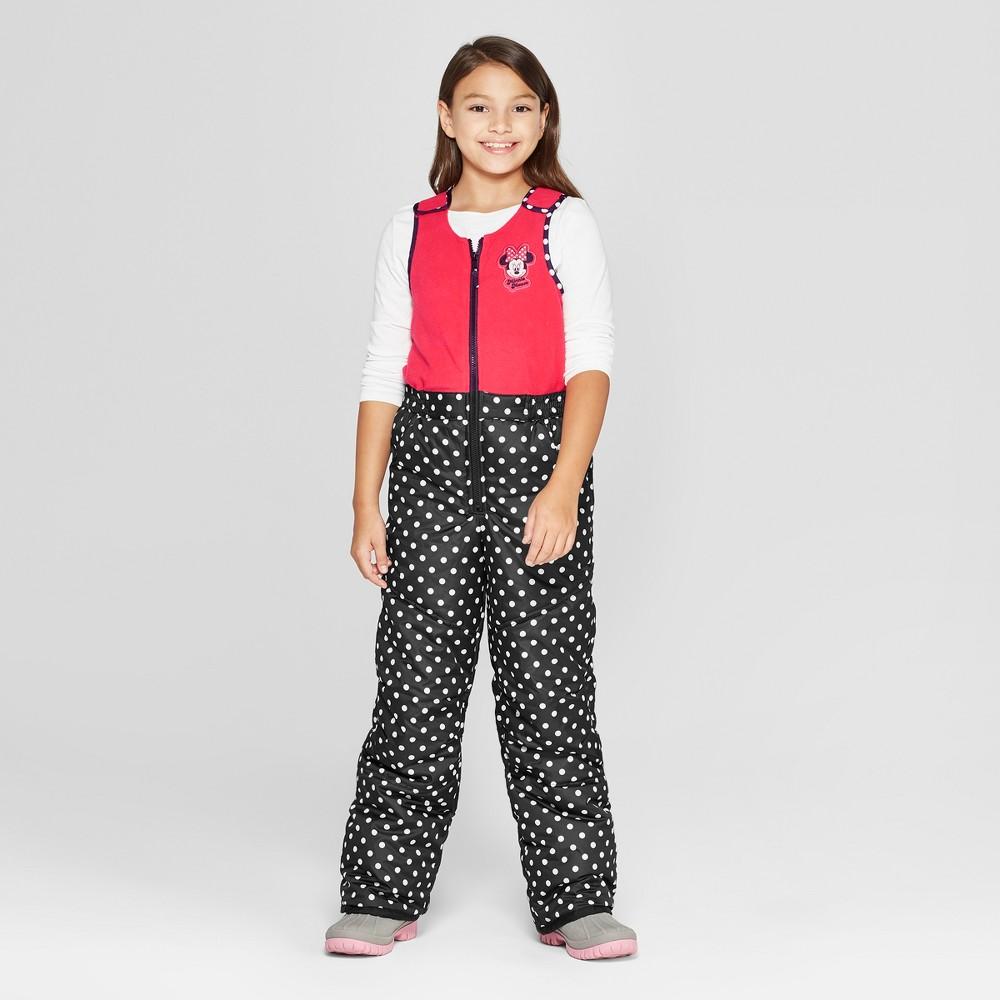 Girls' Minnie Mouse Snow Bib - Black M