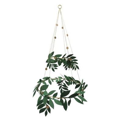 Meri Meri   Christmas   Festive Foliage Chandelier   Party Decorations And Accessories   1ct by Meri Meri