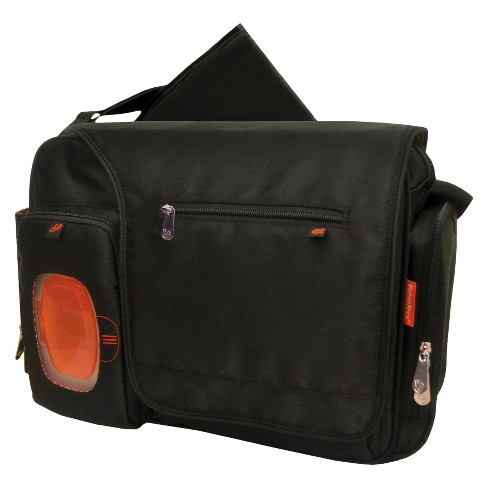 Fisher-Price FastFinder Messenger Diaper Bag - Black - image 1 of 5