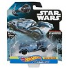 Hot Wheels Star Wars Darth Vader's Tie Fighter Carships - image 4 of 4