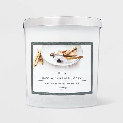 20oz Jar 3-Wick Ashwood and Palo Santo Candle - Threshold™