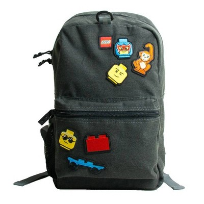 """LEGO Mystery Patch Series 2 16"""" Backpack - Gray"""
