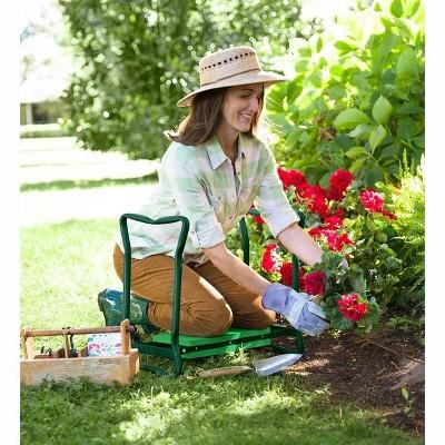 Folding Garden Kneeler/Seat With Foam Pad, In Green   Plow U0026 Hearth