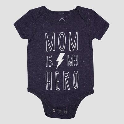 Baby Super Hero Mom Short Sleeve Bodysuit - Blue 3M