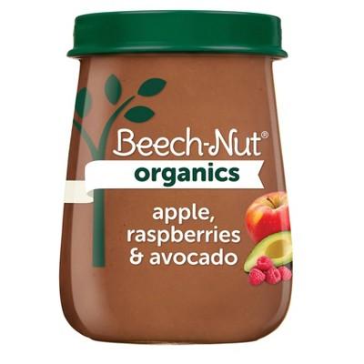 Beech-Nut Organics Apple Raspberries & Avocado Baby Food Jar - 4oz