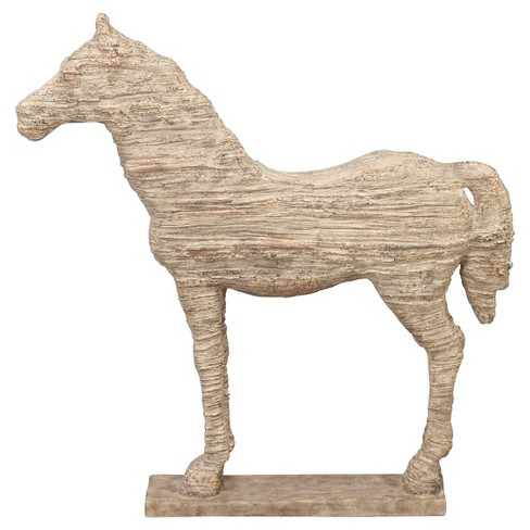 "Traditional Carved Horse Sculpture (19"") - Olivia & May - image 1 of 2"