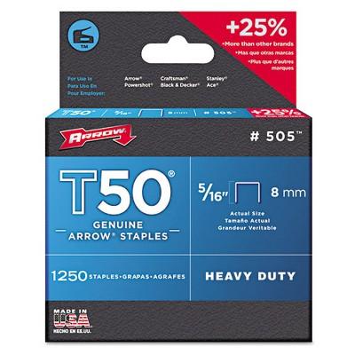 """Arrow T50 Type Staples 5/16"""" .050 Wire 505"""