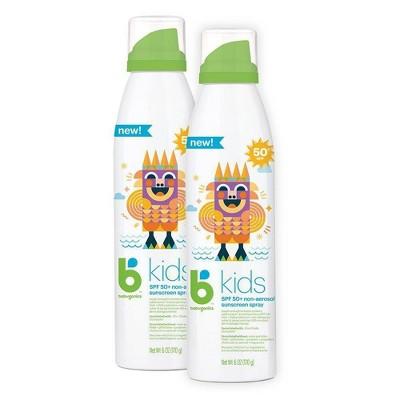 Babyganics Kids Continuous Sunscreen Spray - SPF 50 - 2ct/6 fl oz
