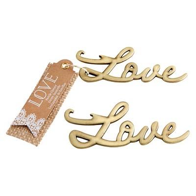 "12ct ""Love"" Antique Bottle Opener Gold"