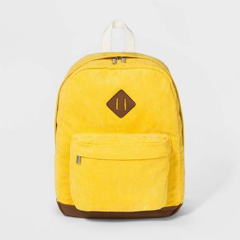 Corduroy Backpack - Wild Fable™ Yellow - image 1 of 4