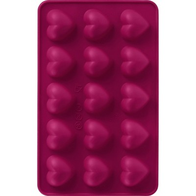 Trudeau 2pk Heart Chocolate Molds Red