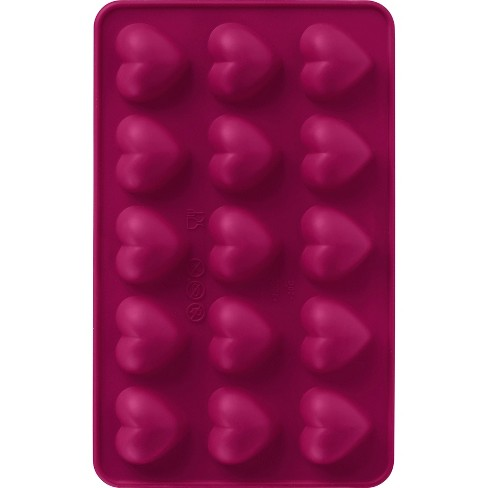 Trudeau 2pk Heart Chocolate Molds Red - image 1 of 3
