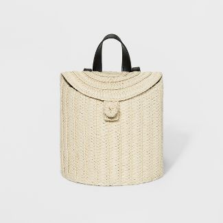 Womens Straw Basket Backpack - A New Day™ Natural
