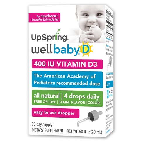 Upspring Wellbaby Vitamin D Liquid – 0.34floz - image 1 of 1