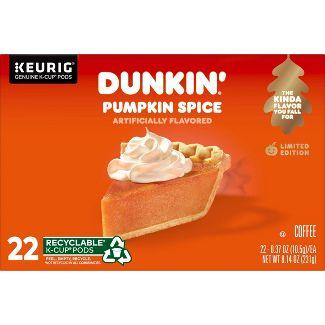 Dunkin' Donuts Pumpkin Spice Medium Roast Coffee - Keurig K-Cup Pods - 22ct