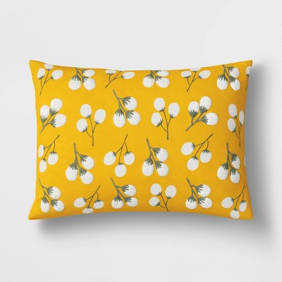 Lumbar Embroidered Floral Pillow Yellow - Opalhouse™