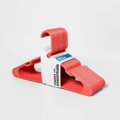18pk Plastic Hanger Orange - Room Essentials™