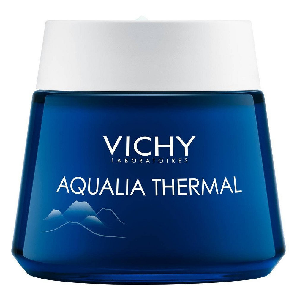 Image of Vichy Aqualia Thermal Night Spa Anti Fatigue Night Cream and Face Mask with Hyaluronic Acid - 2.54oz