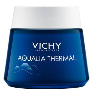 Vichy Aqualia Thermal Night Spa Anti Fatigue Night Cream And Face Mask With Hyaluronic Acid - 2.54oz : Target