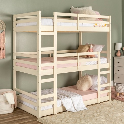 Solid Wood Triple Bunk Bed Saracina Home Target