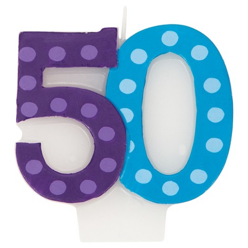 Bright And Bold 50th Birthday Candle Target