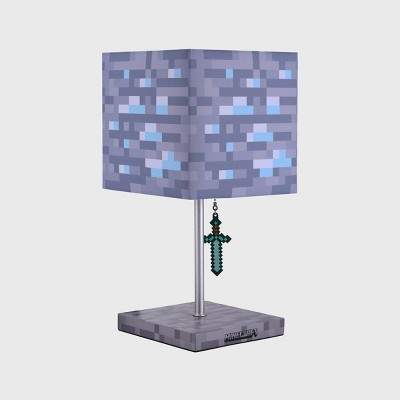 Minecraft Diamond Ore Table Lamp