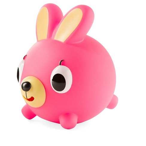 "Neon Pink Jabber Ball With Sound Effects, Bunny, 4"" Dia. - Hearthsong - image 1 of 1"