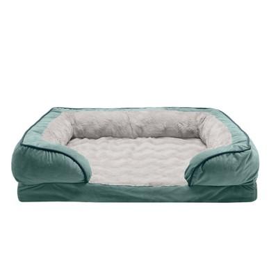 FurHaven Velvet Waves Perfect Comfort Full Comfort Sofa Dog Bed